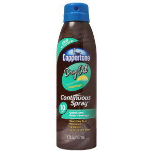 bronceador coppertone tinuos spray dry oil 177 ml