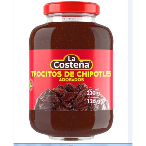 chiles chipotles la costeña adobados en trocitos 230 g