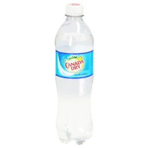 agua mineral canada dry club soda 600 ml