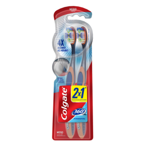 cepillo dental colgate no360 interdental 2x1 blist