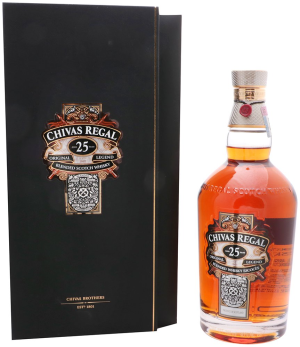chivas regal whisky escoces 25 años 700 ml botell