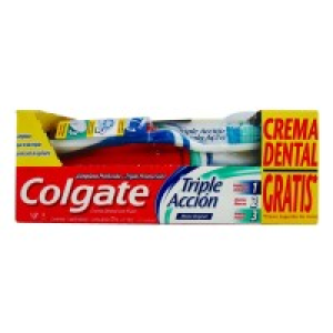 cepillo dental colgate triple acción med+crema dental triple acción 75 ml