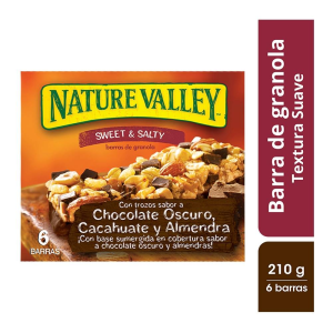 Barras de granola Nature Valley sabor chocolate 6 pzas