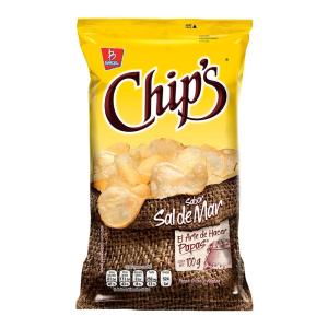 papas chip's sabor sal de mar 100 g