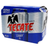 Cerveza clara Tecate light 12 latas de 355 ml c/u