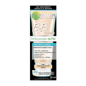 crema facial garnier bb cream piel mixta a grasa tono medio 60 ml