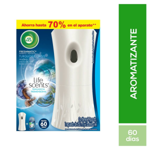 Aromatizante ambiental Air Wick Real Moments con difusor automático turquoise oasis