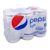 Refresco Pepsi light 6 latas de 237 ml c/u