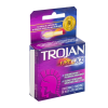 Condones Trojan Fire and Ice lubricante de doble acción 3 pzas