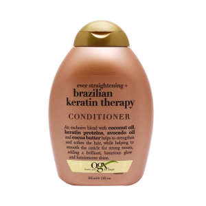 Acondicionador Ogx Ever Straight brazilian keratin therapy 385 ml