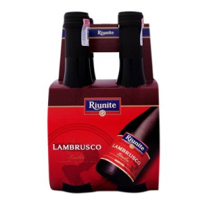 vino tinto riunite lambrusco 4 pack botellas 187 ml u
