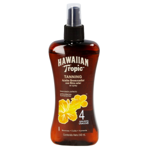 aceite bronceador hawaiian tropic fps 4 en spray 240 ml