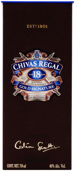 whisky chivas regal escocés 18 años 750 ml