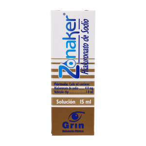 zonaker 4 mg sol frasco gotero 15 ml