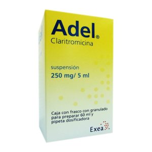 Adel Suspension 250 Mg 5 Ml Caja Con Frasco Con Granulado Para