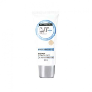 base de maquillaje maybelline pure crema claro 15 anti barros 30 ml