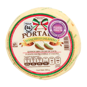 queso portales manchego jalapeño 300 gr