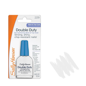endurecedor de uñas sally hansen double duty base y protector 133 ml
