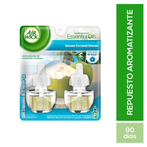 Repuesto de aromatizante Air Wick coconut breeze 2 pzas de 21 ml c/u