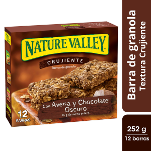 Barras de granola Nature Valley con cacahuate 6 pzas