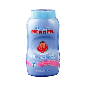 mennen baby magic talco para bebe azul