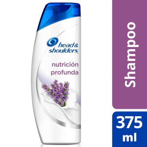 shampoo head and shoulders 3 action formula trol caspa nutrición profunda 375 ml