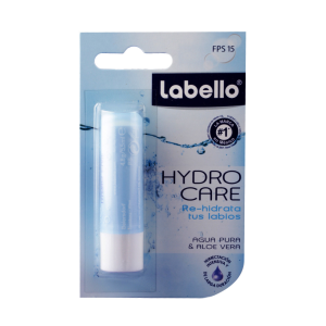 humectante labial labello hydro care agua pura y aloe vera 48 g