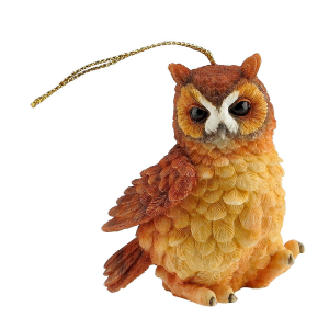Ornament- owl -with ears on top