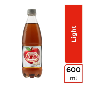 refresco sidral mundet light sabor manzana botella de 600 ml
