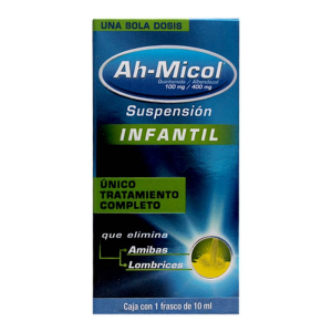 desparasitante ah micol 100 mg 400 mg suspension infantil 10 ml