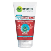 gel facial garnier pure active 3 en 1 limpiador exfoliante y mascarilla 150 ml