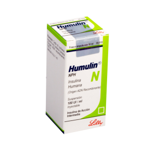 Humulin N Suspensiòn 100 UI / mL Caja Con Frasco Àmpula Con 10 mL  RX3