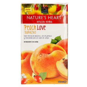 infusión herbal terrafertil natures heart durazno 20 sobres de 175 g u