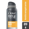 antitranspirante dove men+care energy dry en aerosol 89 g