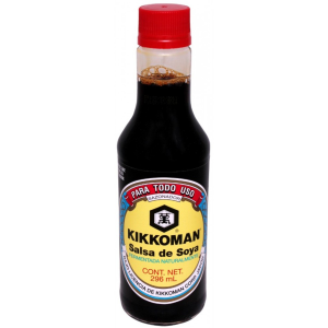 kikkoman salsa de soya regular 296 ml botell 296